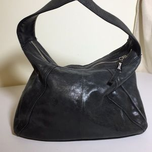 Kenneth Cole Reaction gray leather hobo +wallet